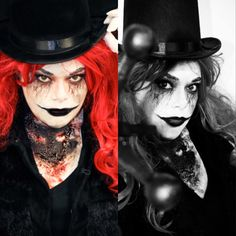 Creepy Ringmaster  Makeup by me Photography by Julie Ufema of Bittersweet Studios Halloween Costumes, Halloween Face Makeup, Halloween Stuff, Ringmaster Costume, Creepy Carnival, Dark Circus, Horror Makeup, Scary, Photography