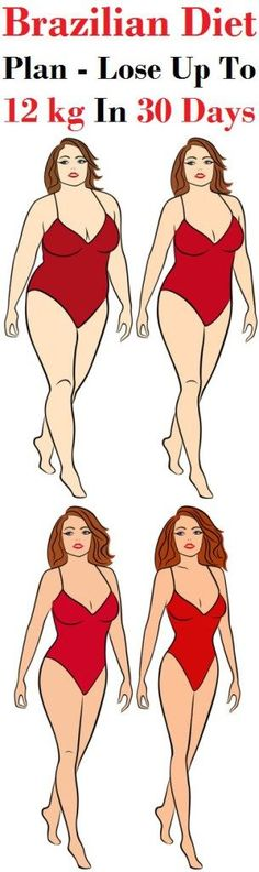 Unbelievable: Lose 12 kg in 1 Month With This Brazilian Diet! (DIET PLAN)