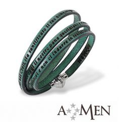 AMEN Bracelet - Our Father in Latin - Size M - Green