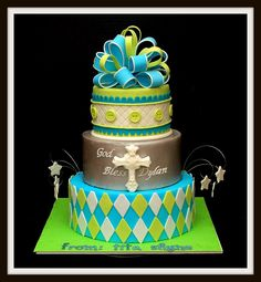 Baptism Cake by Bellina's