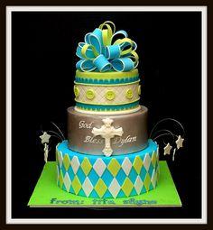 Baptism Cake by Bellina's