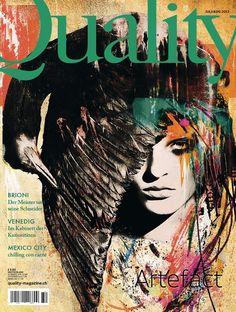 Quality 32 Artifact,Illustration: Sandrine Pagnoux Foto: Norbert Bäres Illustration Art, Illustrations, Magazines, Zero, Layout, Inspire, Graphic Design, Cover, Artwork