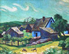 Farmhouses in the Morning, 1927 - Max Pechstein - WikiArt.org