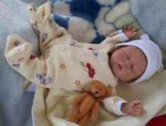 polymer clay, baby boy, art doll, by DreamSculpt