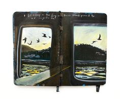 Artist Documents Tender Notes Over Acrylic Illustrations From Her Travels on a Moleskine Notebook American artist Missy H. Dunaway documents her travels across the US Europe Turkey and Morocco with extreme romanticism and poetry. Dunaway illustrates on her Moleskine journal a beautiful scenery with acrylic paint from her time in a specific location then autographs each painting with a sweet excerpt of nostalgia. She often composes goodbye notes on her journals as she bids adieu to each…