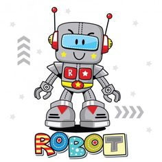 Robot Vector, Robot Clipart, Vector Art, Vector File, Android Art, Android Design, Android Hacks, Wallpapers Android, Bebe