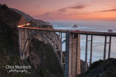 Dusk at Bixby Bridge. This is a shot I've been wanting to take for a long time, and finally got the opportunity after being staked out at Bixby Bridge for 2 nights. The view was pretty exceptional during this time, so that wasn't a bad thing!