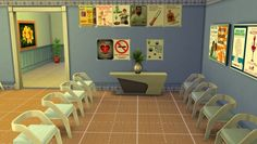 Get to Work Decorative Hospital Wall Clutter by crackfox at Mod The Sims via Sims 4 Updates
