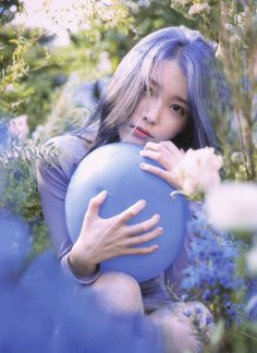 Photo album containing 66 pictures of IU Iu Twitter, Peinados Pin Up, Cosmic Girls, Korean Actresses, Love Poems, K Idols, Blue Hair, Korean Singer, Girl Crushes