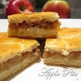 Hungarian Apple Pite ( a version of the American Apple Pie ). It is a fairly light pastry filled with goodness of grated apple & cinnamon. Hungarian Cookies, Hungarian Desserts, Hungarian Cake, Hungarian Cuisine, European Cuisine, Ukrainian Recipes, Croatian Recipes, Hungarian Recipes, Hungarian Food