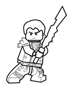 lego ninjago coloring pages jay - Lego Ninjago Pictures To Color