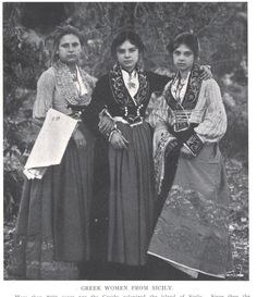 Greek Women from Sicily  from an article taken from a magazine dated 1909.