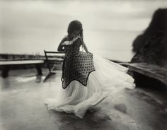 Virginia at 9    photo by Sally Mann, 1994  #girl #dressup #organza