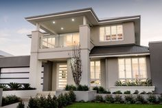 Ben Trager Homes - New Home Designs, Floorplans & Pricing - Bungalow House Design, House Front Design, Dream House Exterior, Dream House Plans, Minimal House Design, Modern House Facades, Huge Houses, New Home Designs, Facade House