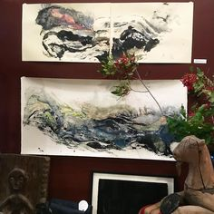 SCOUTED: Check out the beautiful works by @louesaroebuck on the walls of @accidentandartifact. I think these two are my favorite but so hard to choose! Great gift for a very special person in your life. I need one for my office to inspire creativity and fluid thought each day! #sftalent #artists #giveart #louesaroebuck #accidentandartifact #missionsf by tsgsanfrancisco