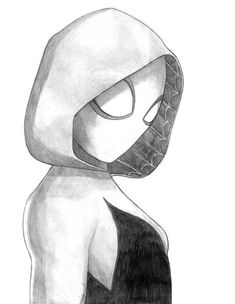 Spider-Gwen (Spider-Man Into the Spider-Verse) by Art Drawings Sketches Simple, Cool Drawings, Disney Drawings, Cartoon Drawings, Spider Drawing, Marvel Art, Ms Marvel, Captain Marvel, Marvel Comics