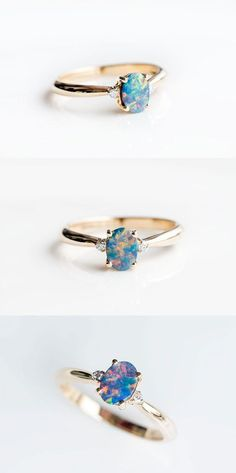Australian Black Opal Diamond Engagement Wedding Ring Yellow Gold Classic Natural Australian Doublet Black Opal and Diamond Ring in Yellow Gold with Beautiful Play-of-Color. Size Free Gift Box with Every Opal Order! Opal Diamond Engagement Ring, Rose Gold Diamond Ring, Engagement Ring Settings, Black Opal Ring, Solitaire Diamond, Opal Gold Ring, Black Opal Jewelry, Engagement Tips, Silver Jewelry