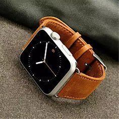 nieuwste+Crazy+Horse+horlogeband+eenvoudige+pu+voor+iWatch+horlogeband+38mm+/+42mm+diverse+kleuren+–+EUR+€+24.69