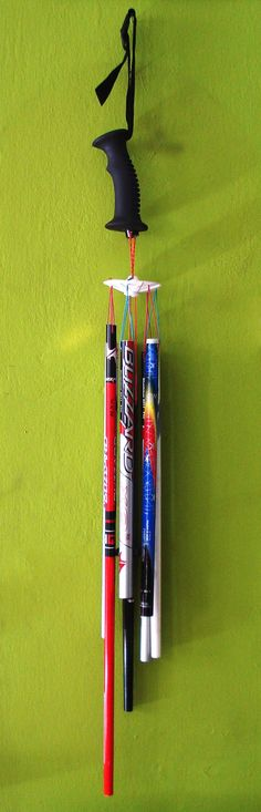 Snow ski poles wind chimes on Etsy, $49.38