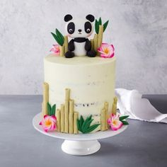 Our Panda Bear Birthday Cake is perfect for any celebration. Hand made by our talented team of cake decorators and ready for your party Panda Birthday Cake, Animal Birthday Cakes, Themed Birthday Cakes, Bear Birthday, Birthday Cake Girls, Panda Bear Cake, Bolo Panda, Panda Cupcakes, Teen Cakes