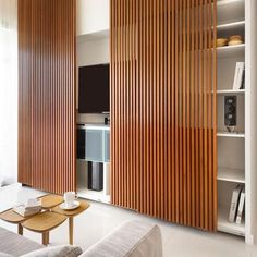 Modern timber screen panel ~ a personal favourite!