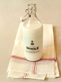 I would get the cream off the top of the milk bottle - that was my treat - in the days before milk was homogenized!