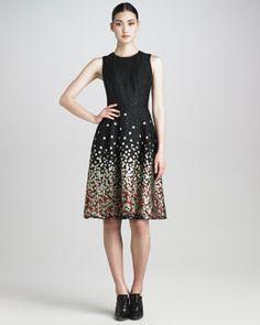 Jason Wu Metallic Dot Jacquard Dress