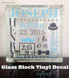 Vinyl Glass Block Tutorial: Silhouette School ~ Silhouette School