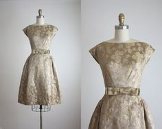 1950s gold brocade cocktail dress by 1919vintage on Etsy