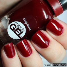 Sally Hansen Miracle Gel Can't Beet Royalty from the Royal Splendor Collection • Casual Contrast