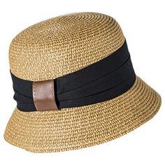 Women's Merona® Cloche Hat with Black Sash - Tan