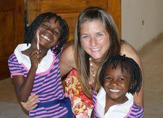 Megan Boudreaux, a woman fighting child slavery in Haiti.