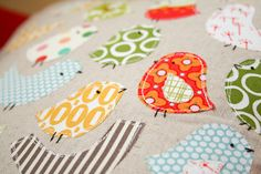 T-shirt applique stencil idea.  - A little bird detail by badskirt - amy, via Flickr