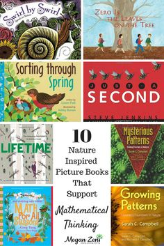 Math is an easy subject to teach outdoors. Here are ten inspired by nature picture books that support mathematical thinking in your outdoor classroom. Math For Kids, Fun Math, Math Activities, Outdoor Activities, Math Books, Science Books, Teacher Books, Teacher Stuff, Maths In Nature