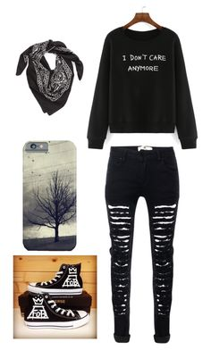 """Skylar Chapter Going Home"" by killercheshirecat ❤ liked on Polyvore featuring Converse and LULLA COLLECTION BY BINDYA"