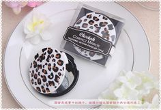 100PCS/LOT New Arrival Cheetah Compact Mirror wedding bridal shower party favor guest gift $210.00
