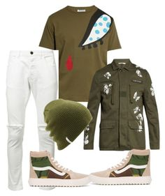 """Untitled #3550"" by styledbycharlieb ❤ liked on Polyvore featuring J.W. Anderson, Valentino, daniel patrick, Vans, Coal, men's fashion and menswear"