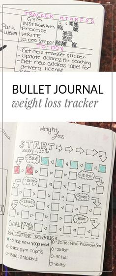 Bullet Journal: Weight Loss Tracker http://productiveandpretty.com/bullet-journal-weight-loss-tracker/?utm_campaign=coschedule&utm_source=pinterest&utm_medium=Jennifer%20Grayeb&utm_content=Bullet%20Journal%3A%20Weight%20Loss%20Tracker