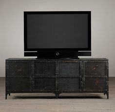 Industrial Tool Chest Media Console | Wood Shelving U0026 Cabinets |  Restoration Hardware