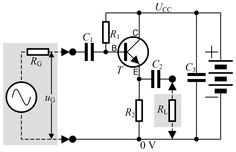 Emiter (w tranzystorze), elektroda emitująca nośniki mniejszościowe (elektrony przewodnictwa lub dziury przewodzące).