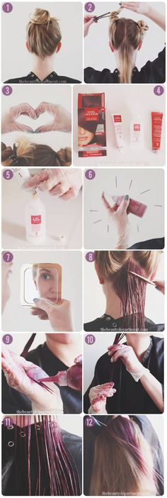 London Luxe - how to get just a hint of purple hair (or any bold hair color, really) using at-home hair color from Vidal Sassoon Pro Series. Via @The Beauty Department