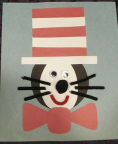 Cat in the Hat craft .... incorporate shapes in this activity