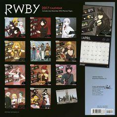RWBY 2017 Calendar