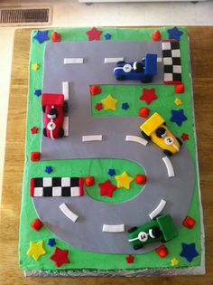 race track cake  by rainbow robot, via Flickr