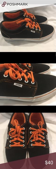 ff2614c16d0 Men s vans Black and orange chukka low sneakers Men s vans Black and orange  chukka low sneakers