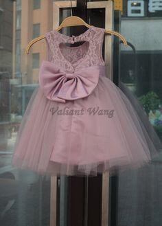 Gran Faja/Lazo rústico bebé cumpleaños vestido por Valiantwang