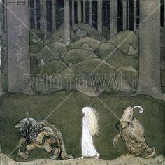 Prinsessan och trollen - John Bauer - Bilder på lerret - Photowall