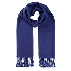 PARATIMA 100% Pure Cashmere Scarf Super Soft Luxurious Lightweight Classic Cashmere Scarf Suit for both Women and Men 65*11.8inches(165*30cm) (Deep Blue). UK scarf. Women scarf. It's an Amazon affiliate link.