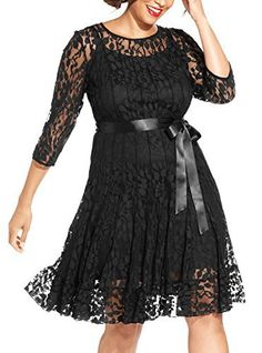 """Product review for Nemidor Women's Illusion Floral Lace 3/4 Sleeves Plus Size Cocktail Dress.  - Nemidor Women's Illusion Floral Lace 3/4 Sleeves Plus Size Cocktail Dress       Famous Words of Inspiration...""""The battle, Sir, is not to the strong alone; it is to the vigilant, the active, the brave.""""   Patrick Henry — Click here for..."""