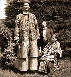 Chang The Chinese Giant [c1870] Attribution Unk [RESTORED] Chang Woo Gow (also listed under a variety of other similar names) was reportedly already 7 foot 9 inches when he 19 years old and began to tour the world, and eventually grew to a height that was an estimated 8 feet.